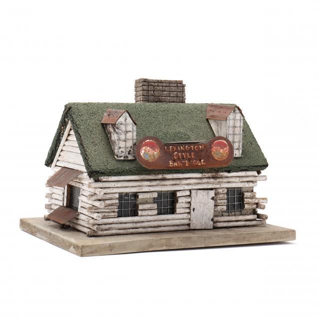 folk-art-cabin-bird-house-famous-lexington-style-bar-b-que