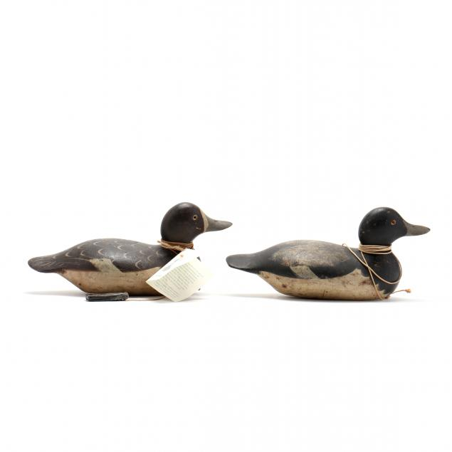 two-mason-blue-bill-decoys-hez-ward-collection