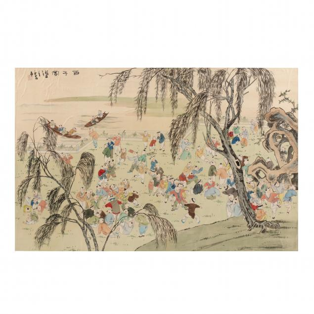 a-chinese-painting-of-one-hundred-boys