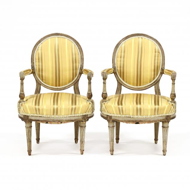antique-pair-of-signed-louis-xvi-style-carved-and-painted-diminutive-fauteuil