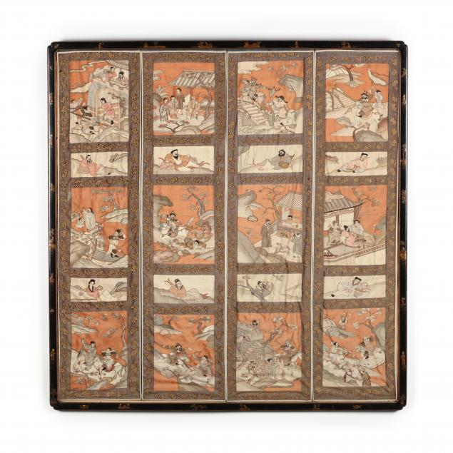 a-framed-set-of-four-chinese-kesi-panels