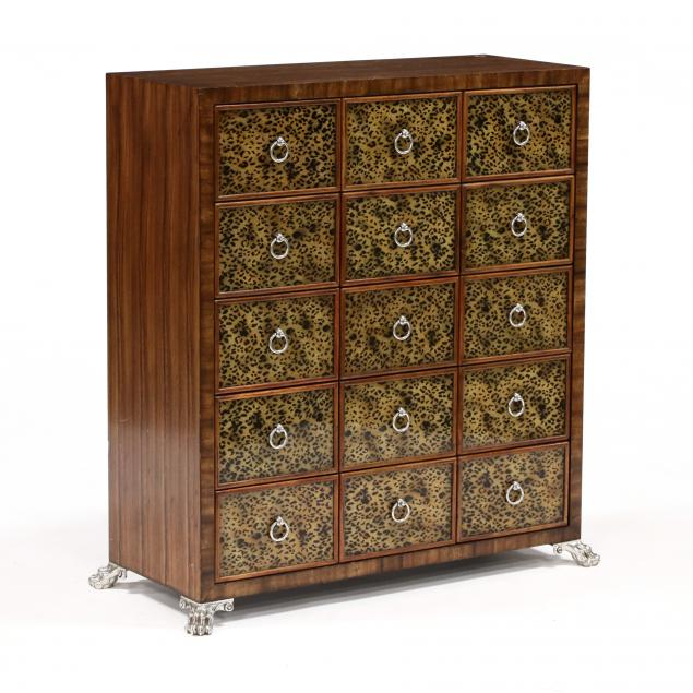 att-theodore-alexander-exotic-wood-and-eglomise-apothecary-cabinet