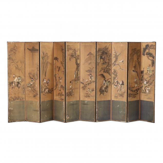a-korean-ten-panel-folding-screen-of-immortals