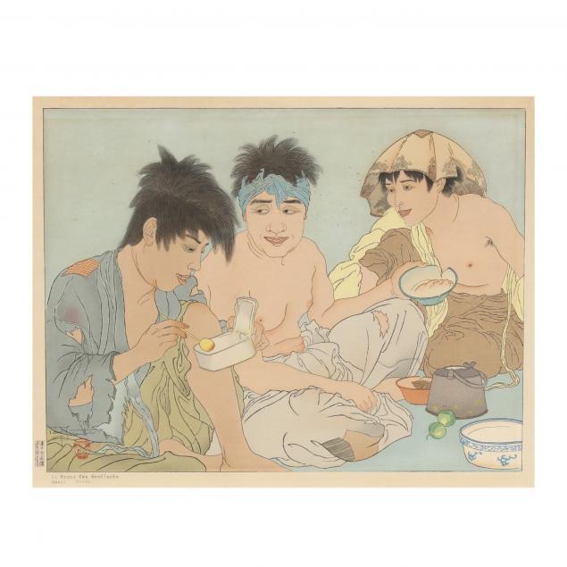 paul-jacoulet-french-1902-1960-i-le-repas-des-mendiants-seoul-coree-i