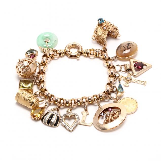 gold-and-gem-set-charm-bracelet