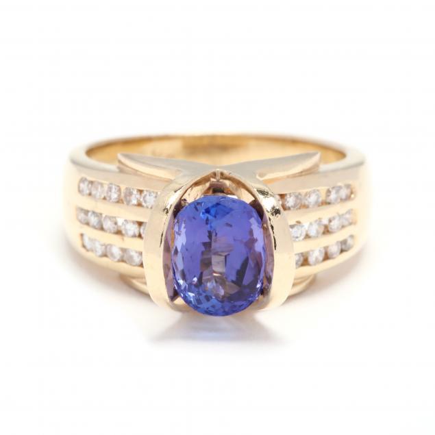 14kt-gold-tanzanite-and-diamond-ring