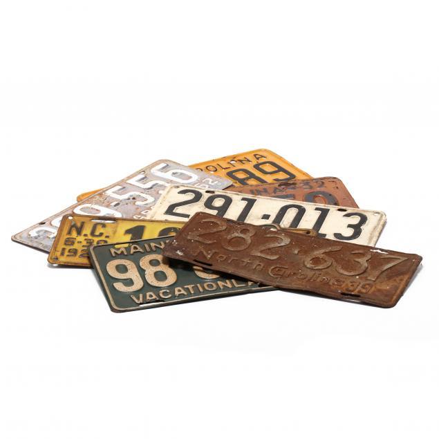 seven-vintage-license-plates
