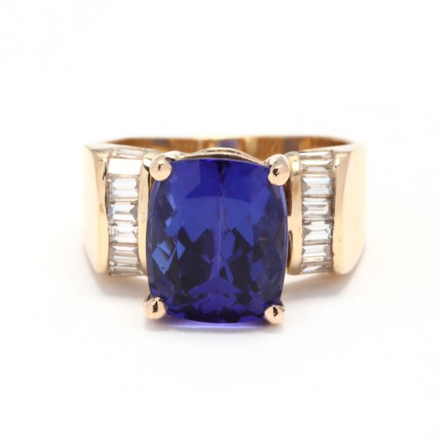 14kt-gold-tanzanite-and-diamond-ring
