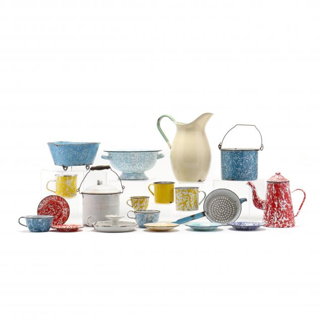 a-group-of-vintage-graniteware-with-bob-timberlake-mark-18