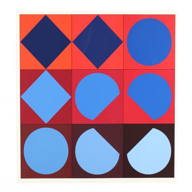 victor-vasarely-french-hungarian-1906-1997-serigraph-from-i-lapidaire-i