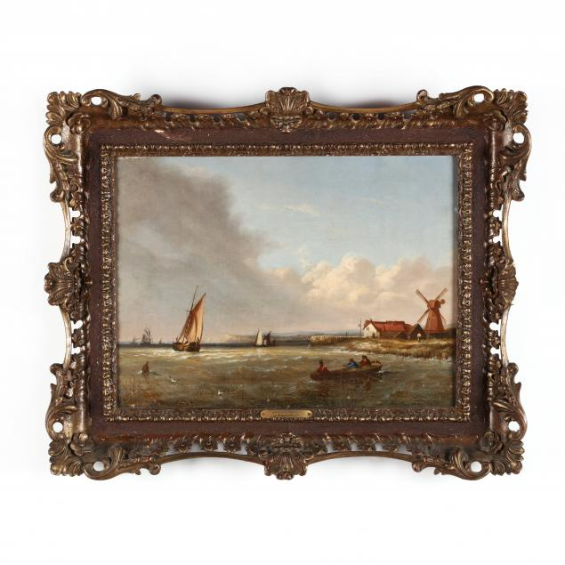 joseph-w-yarnold-british-c-1817-1852-maritime-view-with-mill-kent