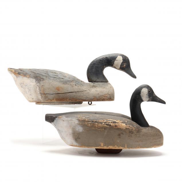 two-vintage-canada-goose-decoy