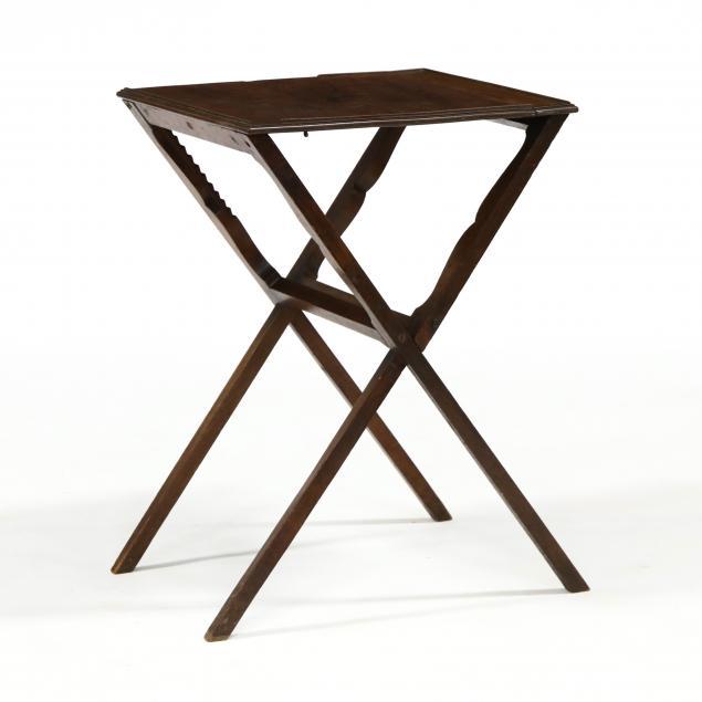 antique-english-mahogany-cross-leg-stand