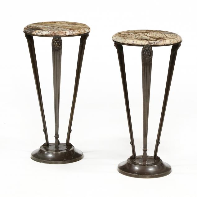 att-theodore-alexander-pair-of-neoclassical-style-bronze-and-marble-side-tables
