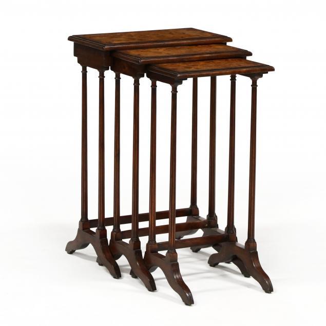 theodore-alexander-set-of-three-burlwood-nesting-tables