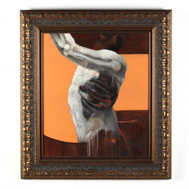 francisco-de-anda-mexican-20th-21st-century-painting-of-a-flayed-torso