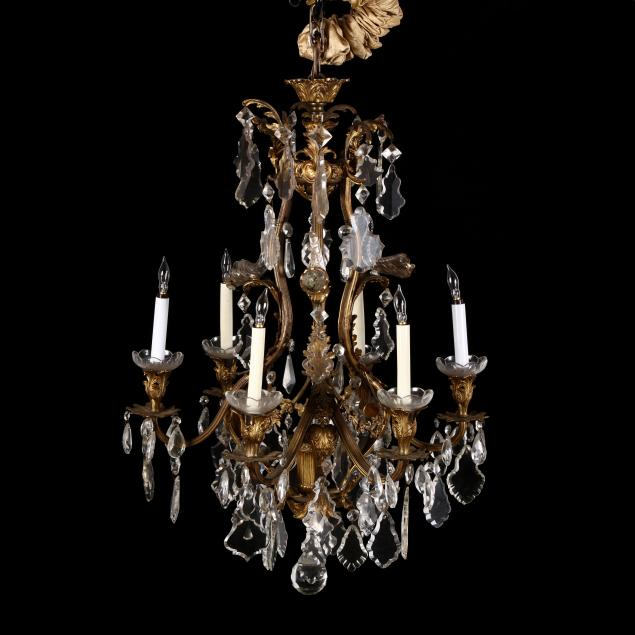 antique-french-classical-style-drop-prism-chandelier