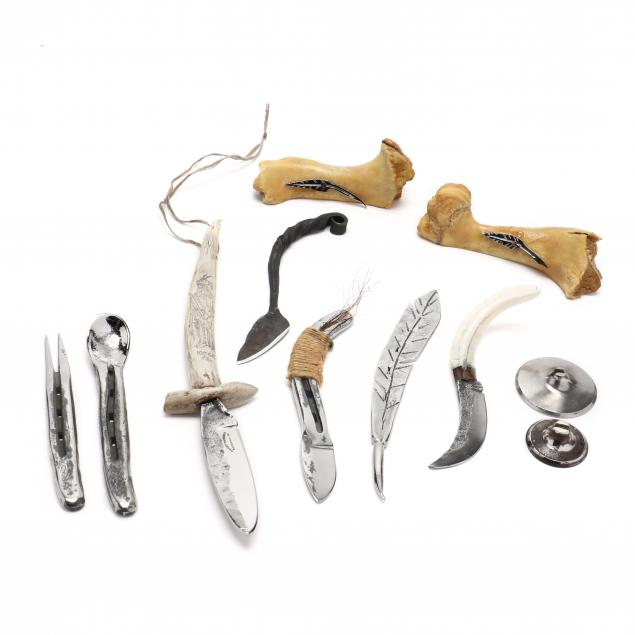 seven-hand-forged-knives-and-tools-with-accessories