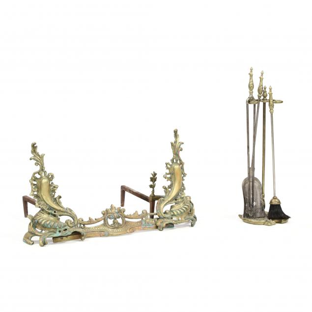 french-rococo-style-brass-assembled-fireplace-set