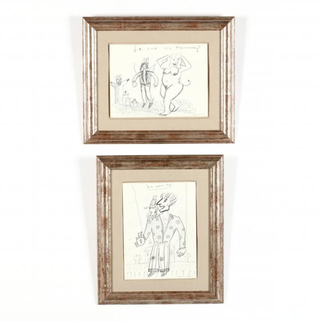 alejandro-benassini-mexican-born-1973-two-figurative-drawings