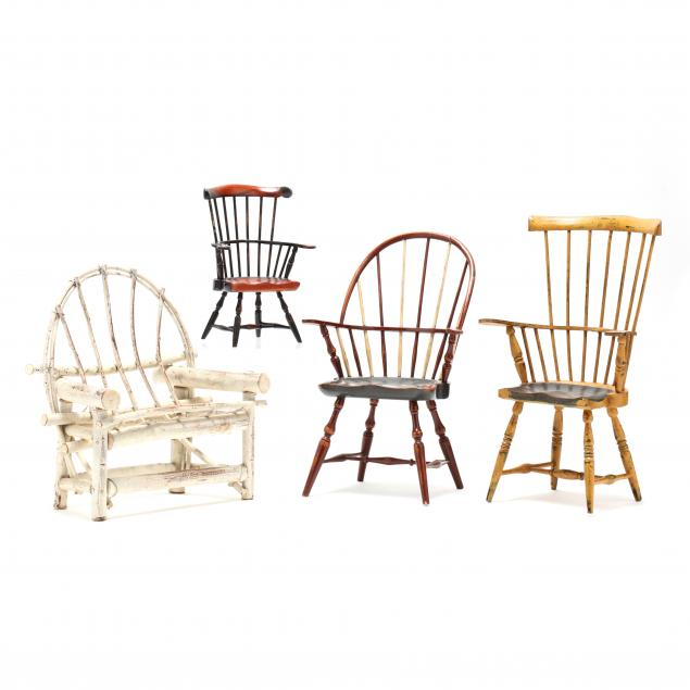 four-contemporary-miniature-chairs