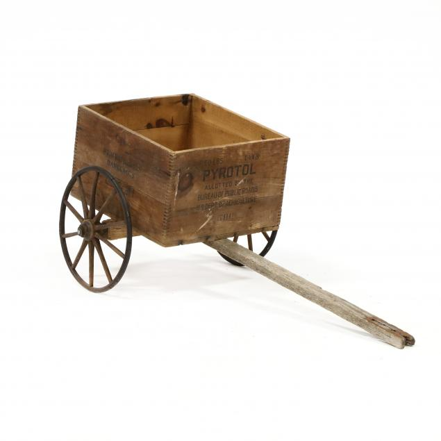 vintage-explosives-crate-on-cart