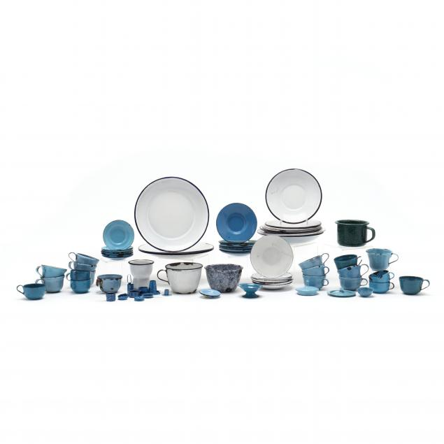 group-of-child-s-graniteware-play-set