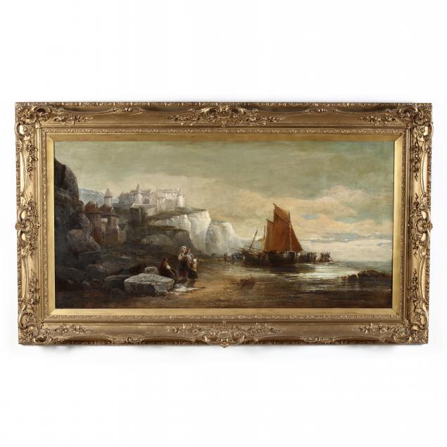 arthur-joseph-meadows-british-1843-1907-maritime-scene-with-chalk-cliffs