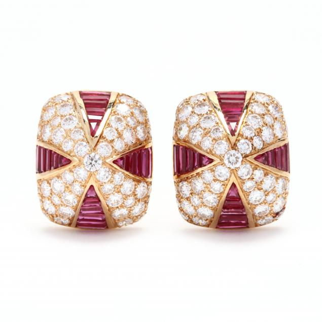 18kt-gold-ruby-and-diamond-earrings-oscar-heyman-brothers
