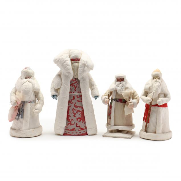 four-russian-grandfather-frost-figures