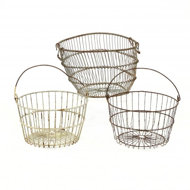 three-vintage-wire-oyster-baskets