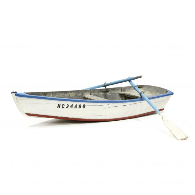 vintage-painted-wood-child-size-rowboat-with-oars