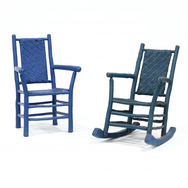 two-vintage-hickory-porch-chairs