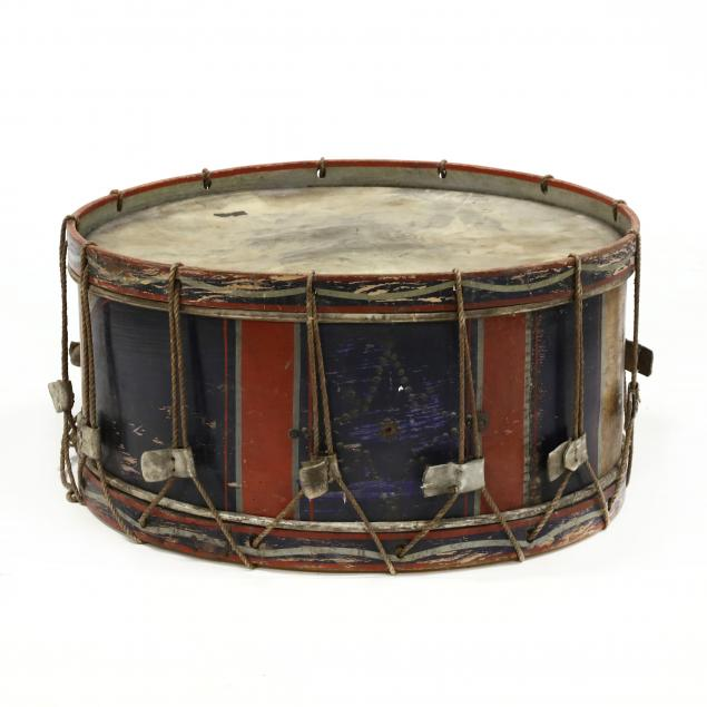 large-antique-marching-bass-drum