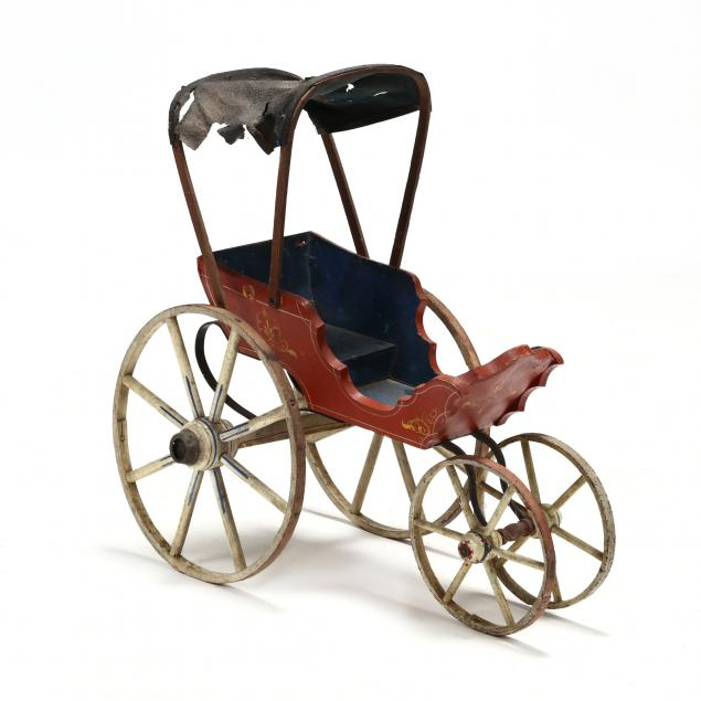 vintage-painted-doll-cart