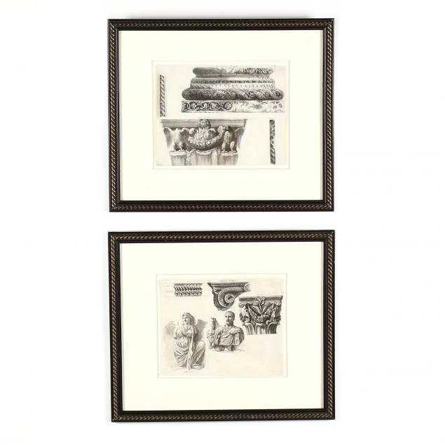 two-antique-drawings-of-italian-and-french-architectural-ornament