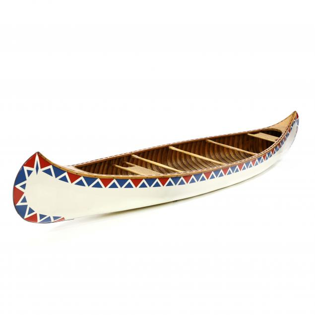 antique-old-town-17-foot-painted-canoe