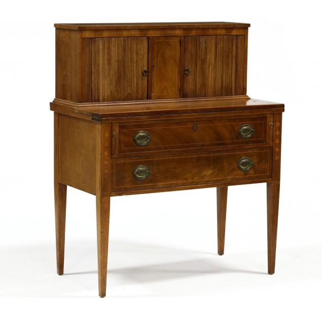 federal-style-inlaid-mahogany-tambour-desk