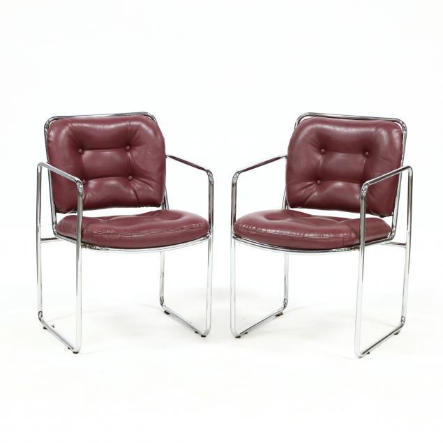 pair-of-vintage-steel-armchairs
