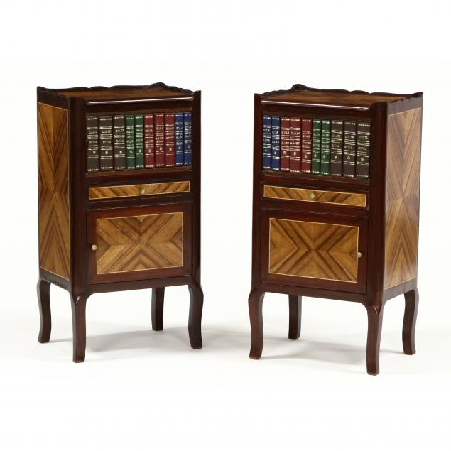 pair-of-french-inlaid-faux-book-side-cabinets