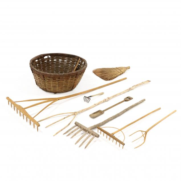 large-woven-oak-splint-basket-with-eight-wooden-implements