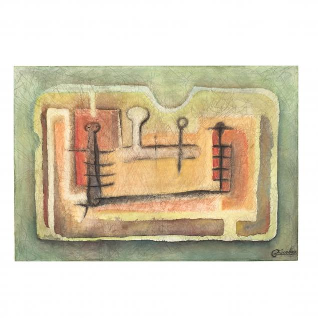 latin-american-school-20th-century-abstract-figural-watercolor