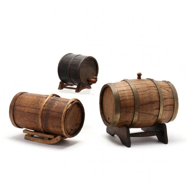 three-small-wooden-kegs