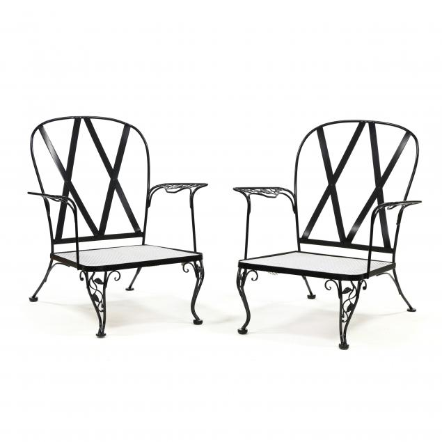 pair-of-painted-wrought-iron-garden-chairs