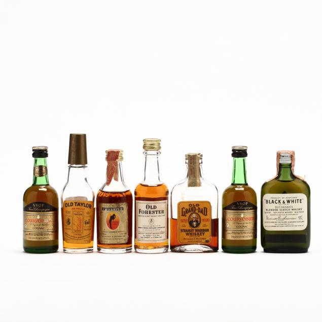 a-vintage-collection-of-miniature-liquors