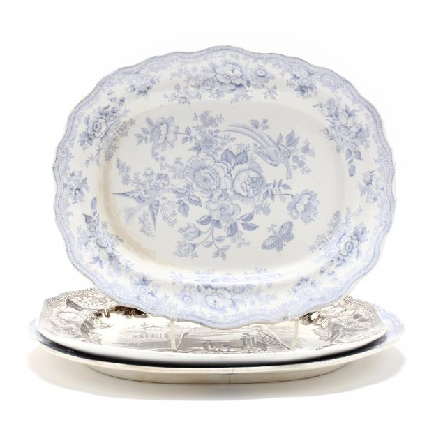 three-19th-century-english-transferware-serving-platters