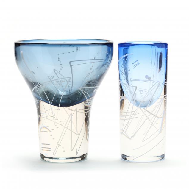 mark-sudduth-oh-two-art-glass-vessels