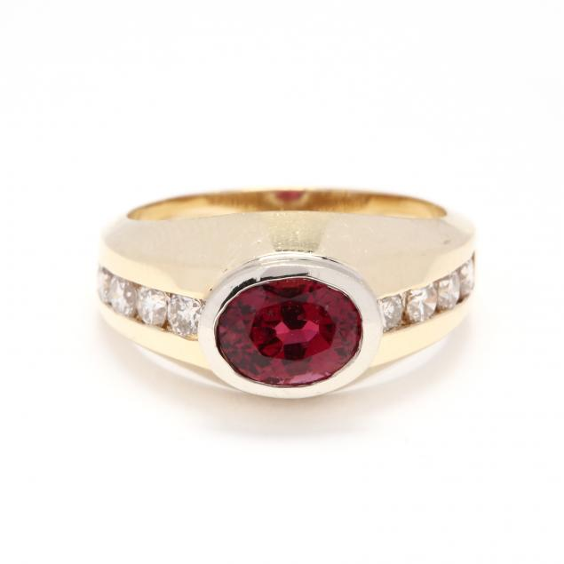 14kt-gold-rubellite-and-diamond-ring