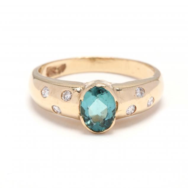 14kt-gold-tourmaline-and-diamond-ring