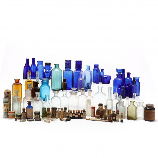 collection-of-vintage-pharmaceutical-bottles-and-containers